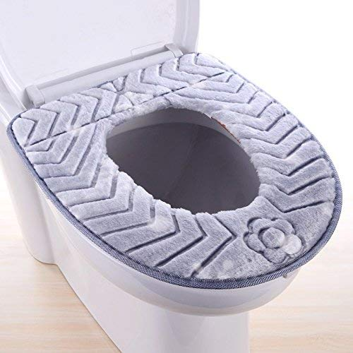 Toilet seat Cover Toilet Cushion Plant Pattern Bathmats Three Piece Toilet Mat