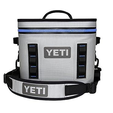 YETI Hopper Flip Portable Cooler (Flip 12 Fog Gray/Tahoe Blue)