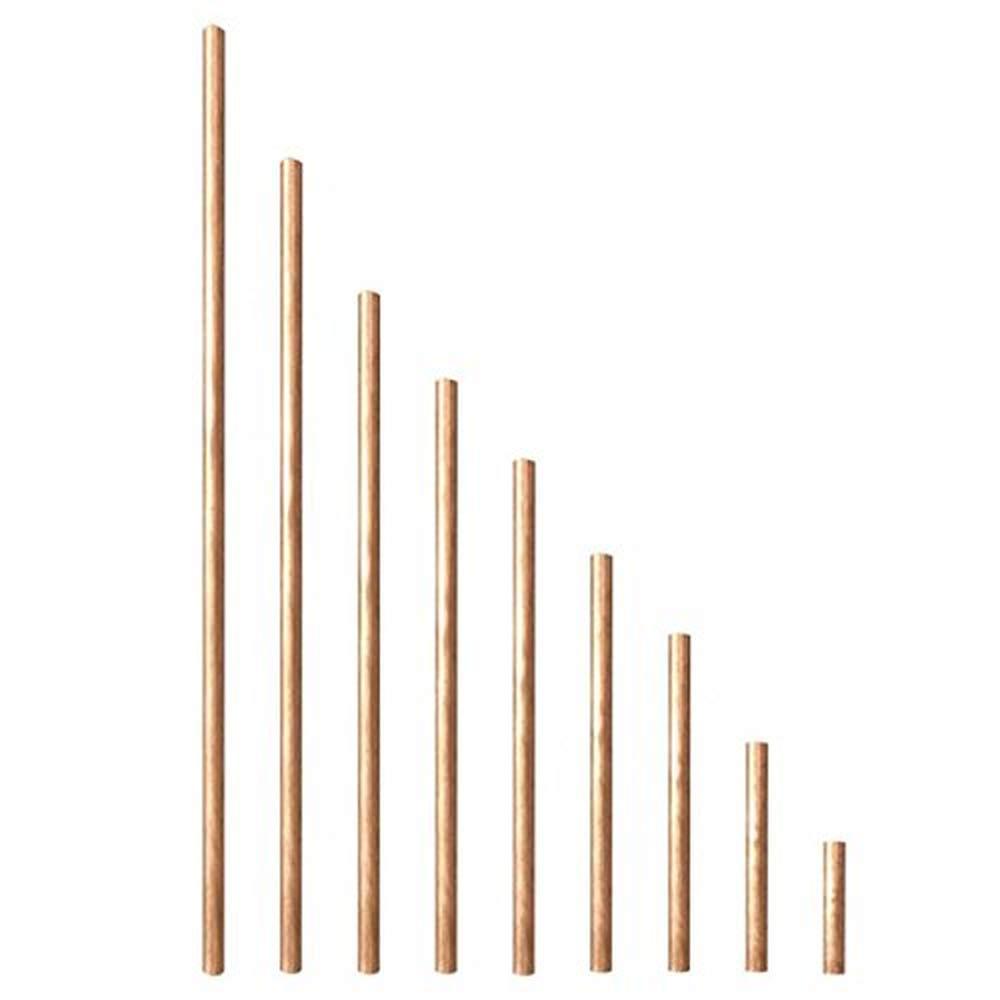 50-600 mm Runde Stange aus Kupfer Metallbearbeitung 600 mm 6 mm Durchmesser zum Fr/äsen und Schwei/ßen