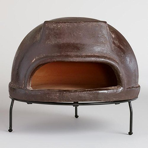 Rustic Outdoor Pizza Oven | Perfect Home Clay Oven for Wood Fired Pizzas or a Space Heater For Your Patio and Backyard Entertainment