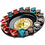 """13"""" Spin and Shot Roulette - Casino-Style Drinking Game Set - Great Party Amusement, Night Entertainment, Reunions, Birthday Bashes, Holidays, Novelty Toy, Party Favor by Kicko"""