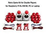 Retro Game Kit for Double Players, for Raspberry Pi B+/2B/3B, PC or Laptop.