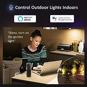 2 Pcs Smart LED Floodlight 20W...