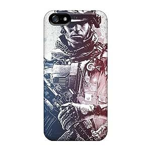 New Battlefield 3 Soldier Tpu Case Cover, Anti-scratch RiOZRrU7367roawU Phone Case For Iphone 5/5s