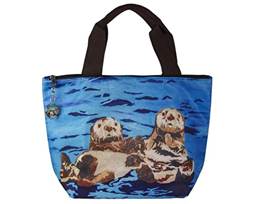 Sea Otter Lunch Bag with Matching Zipper Charm - Lunch Cooler