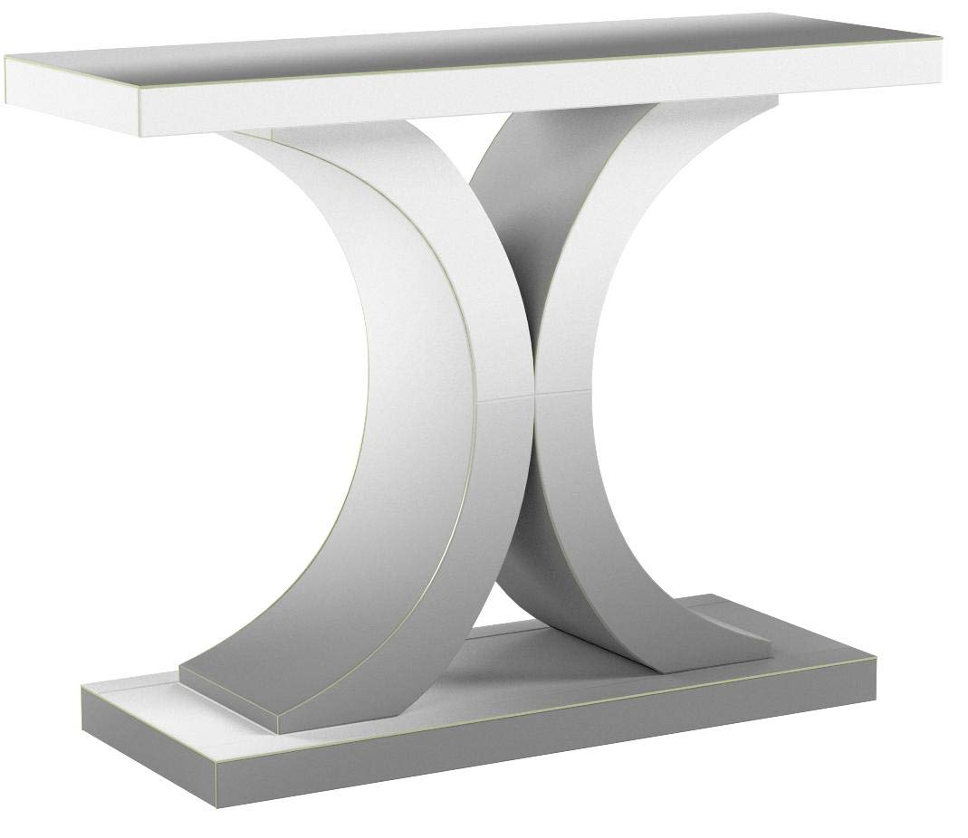 Christopher Knight Home Olivier Modern X Shaped Glass Finished Console Table, Mirrored by Christopher Knight Home