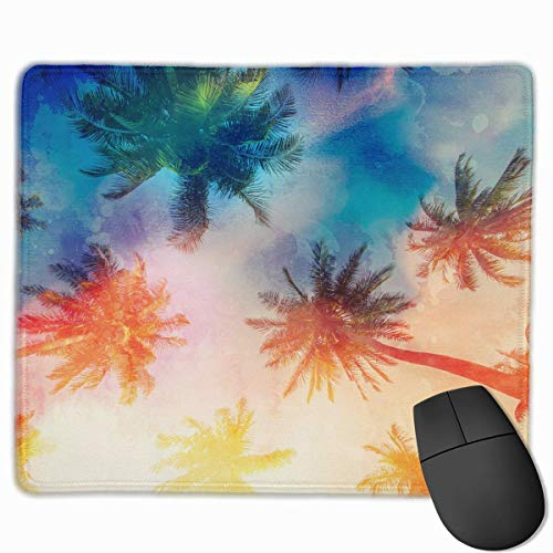 Pineapple Palms Sunset Light Quality Comfortable Game Base Mouse Pad with Stitched Edges Size 11.81 9.84 Inch]()