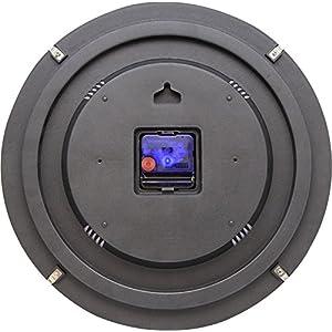 "NeXtime Reloj de pared ""BASIC DOME"", muy silencioso, redondo, negro, ø 35 cm 2"