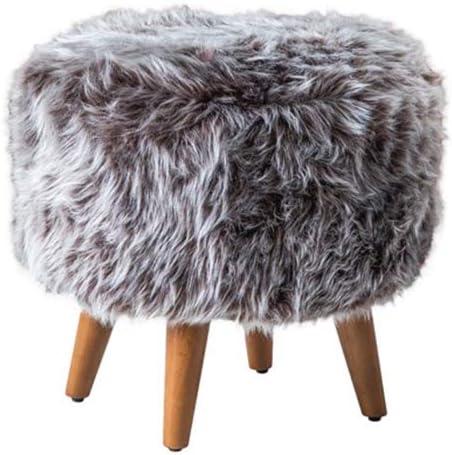 Casamudo Round Ottoman Plush Pouf Chair
