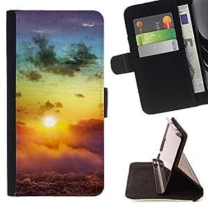 For Sony Xperia Z5 Compact Z5 Mini (Not for Normal Z5) Case , Sunset Beautiful Nature 113- la tarjeta de Crédito Slots PU Funda de cuero Monedero caso cubierta de piel