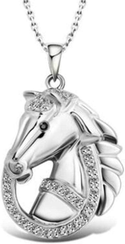 Collar Colgante Joyería Collar para Niñas Caballo Animal Cadena Colgante Collar Alta Joyería
