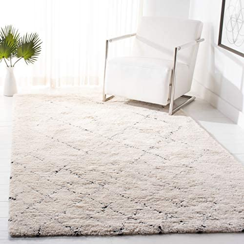 Safavieh Casablanca Shag Collection CSB914A Handmade Wool Moroccan Area Rug