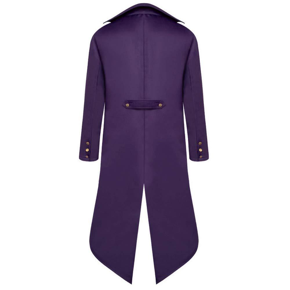 Mens Steampunk Vintage Tailcoat Jacket Gothic Victorian Frock Black Steampunk Buttons Coat Uniform Costume