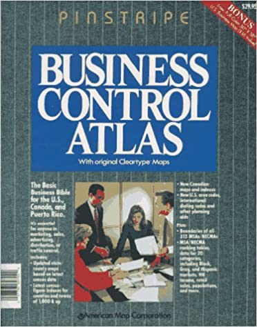 American Map Business Control Atlas Pinstripe With Cleartype Maps Edition
