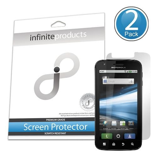 Infinite Products VectorGuard Screen Protection Film for Motorola Atrix - 2 Pack - Retail Packaging - Clear