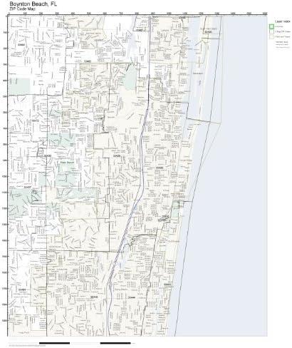 Map Of Boynton Beach Florida Amazon.com: Working Maps Zip Code Wall Map of Boynton Beach, FL