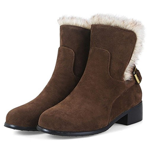 Boots Autumn Fashion Brown On Women KemeKiss Pull ZqAtwE