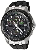 Citizen Men's 'Eco-Drive' Quartz Stainless Steel and Polyurethane Aviator Watch, Color:Black (Model: JY8051-08E)
