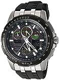 Citizen Men's Eco-Drive Stainless Steel Japanese-Quartz Aviator Watch with Polyurethane Strap, Black, 23 (Model: JY8051-08E)