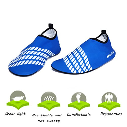 (Men Women Skin Water Shoes Aqua Beach Socks Yoga Pool Swim Unisex Adult Barefoot )