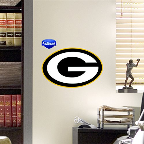 FATHEAD 89-00012 Green Bay Packers Logo Wall Graphic Measures 12 X 16 in. Pack of 6