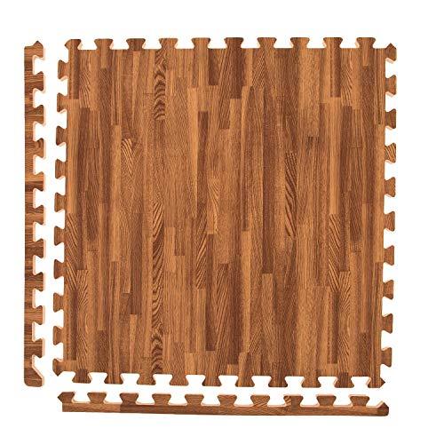 - Incstores - Premium Soft Wood Interlocking Foam Tiles (Dark Oak, 12 Tiles) - Excellent for Trade Show Flooring, Exhibit Flooring, Display Flooring, Conventions, Living Areas, Play Rooms, Yoga, Pilates and Other Light Aerobic/cardio Exercises