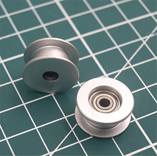 WillBest 1pcs Aluminum Anodized Flat Idler Roller 3mm bore Timing Belt for Prusa i3 MK3/MK2 X/Y axis 623h Bearing housing DIY ()