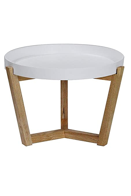 Heather Ann Creations Euro Collection Modern Tri Leg Round Accent Table,  15.8u0026quot; Tall,