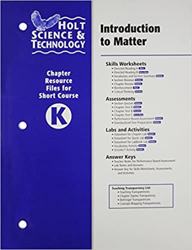 Amazon.com: Holt Science & Technology: Chapter Resource File K ...