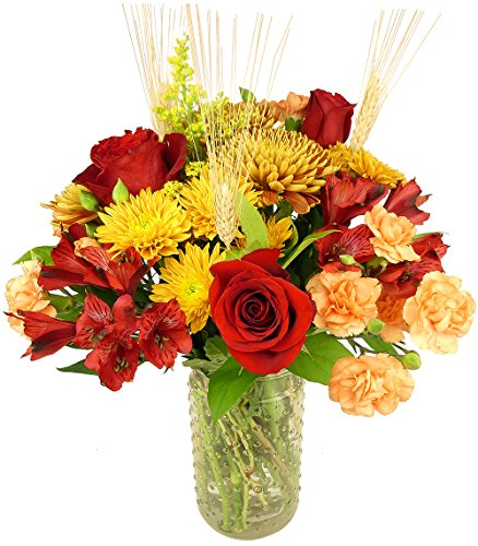 Bouquet Delight (Benchmark Bouquets Harvest Delight, With Vase)