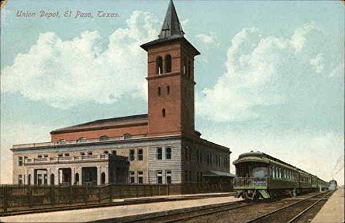 Union Depot El Paso, Texas Original Vintage Postcard (Postcard Union Vintage)