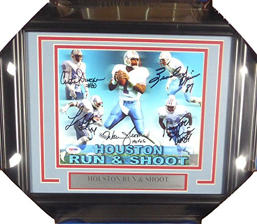 - HOUSTON OILERS RUN & SHOOT AUTOGRAPHED FRAMED 8X10 PHOTO