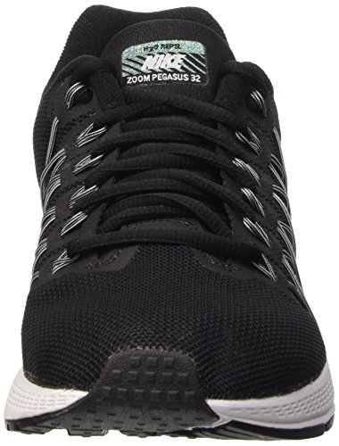 Nike Air Zoom Pegasus 32 Flash Scarpe da Ginnastica, Uomo Nero (Black/Reflect Silver-pure Platinum-cool Grey-wolf Grey)
