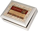 Cottage Garden Confirmation Ornate Champagne Silver Music Box/Jewelry Box Plays Amazing Grace