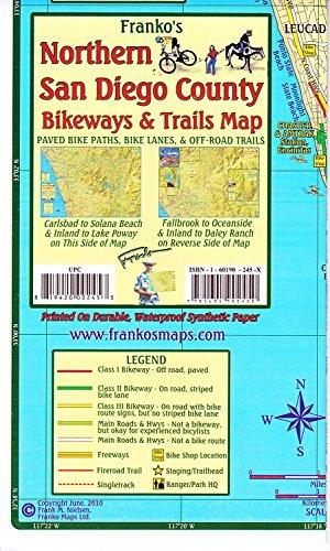Franko's Northern San Diego County Bikeways & Trails Map