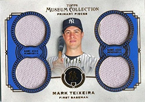 Unsigned Jersey Collection (Mark Teixeira Unsigned 2013 Topps Museum Collection Jersey Card - Baseball Game Used Cards)