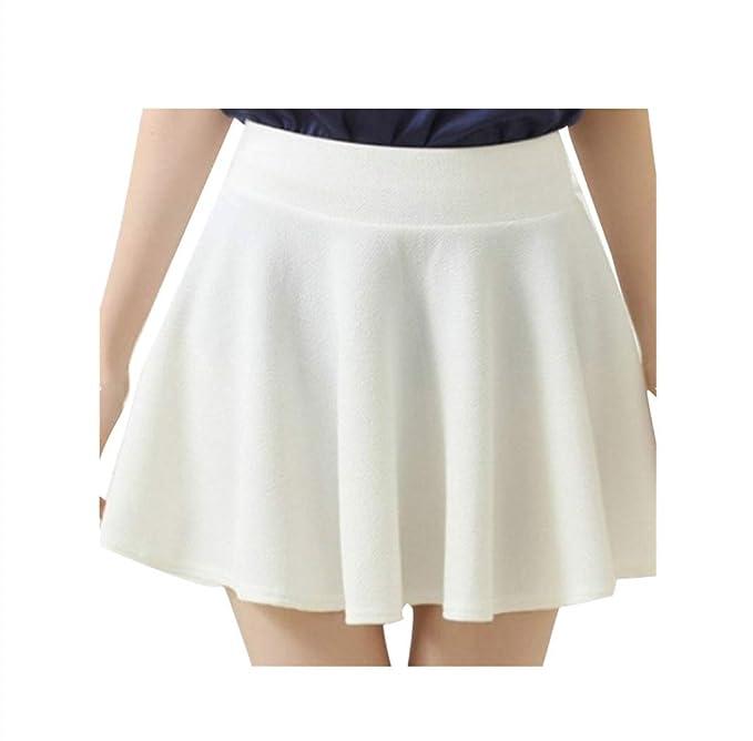 CANDLLY Faldas de Fiesta Mujeres Elegante Faldas Lisas Muchos ...