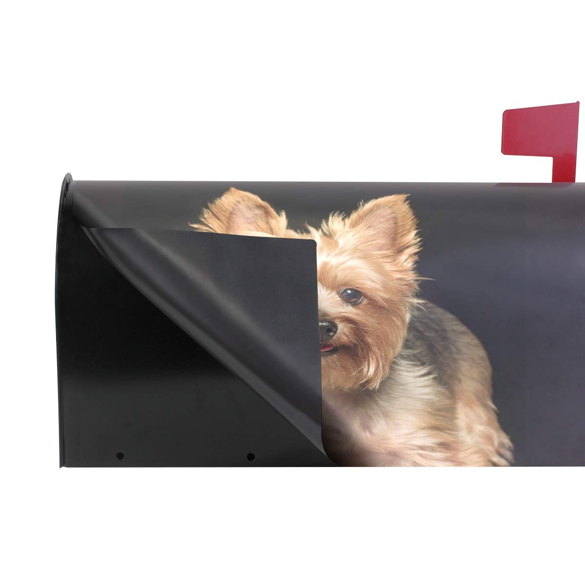 WOOR Cute Yorkie Dog Magnetic Mailbox Cover Standard Size-18x 20.8