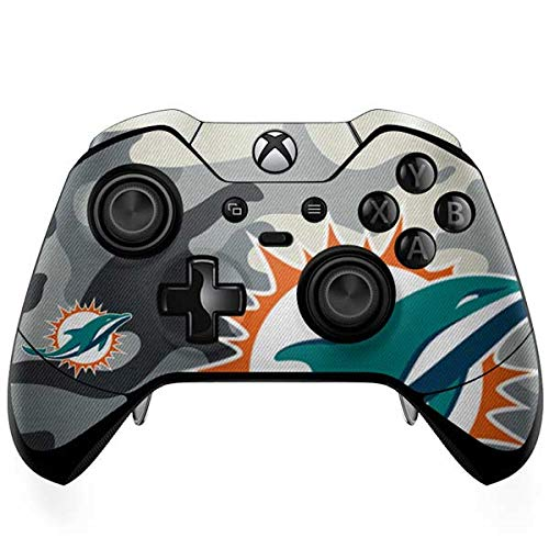 Skinit Miami Dolphins Camo Xbox One Elite Controller Skin - Officially Licensed NFL Gaming Decal - Ultra Thin, Lightweight Vinyl Decal Protection
