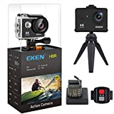(New Version) EKEN H9R Action Camera 4K WiFi Full HD 4K 30fps 2.7K 30fps 1080P 60fps 720P 120fps Waterproof SportsCamera 20MP Photo and 170 Wide Angle Lens Includes 11 Mountings Kit 2 Batteries Black