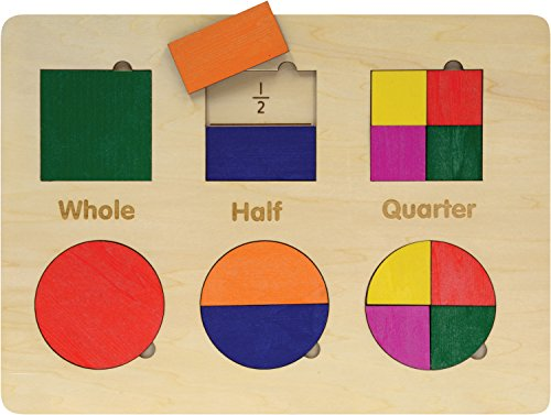Lift and Learn Geometric Puzzle - Shapes and Fractions - Made in USA