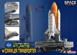 Dragon Models Space Shuttle Atlantis with Crawler Space Transporter Kit, 1:400 Scale