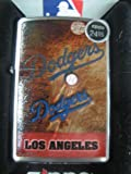 Zippo Lighter MLB Los Angeles Dodge Brushed Chrome