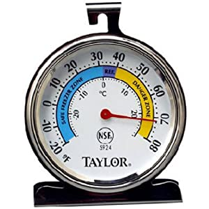Taylor Classic Series Large Dial Fridge/Freezer Thermometer