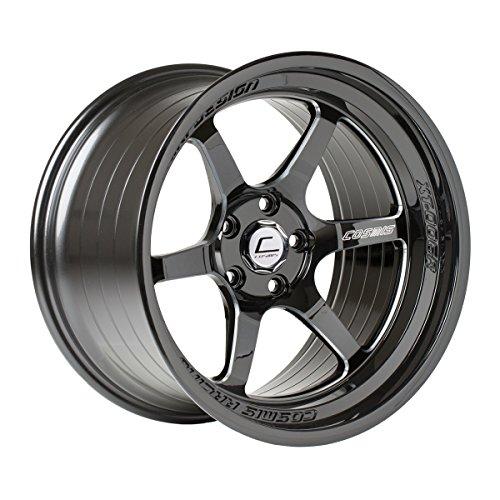 Cosmis Racing Wheels XT (Black W/Machined Spokes): 18x9.5 Wheel Size, 5x114.3mm Lug Pattern, 73.1mm Hub Bore, 10mm Off Set.