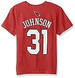 NFL by Outerstuff NFL Boys 4-7 David Johnson Arizona Cardinals Boys -Mainliner Player Name Short sleeve Tee, Cardinal, L(7)