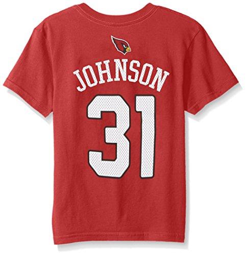 NFL Boys 4-7 David Johnson Arizona Cardinals Boys -Mainliner Player Name Short sleeve Tee, Cardinal, L(7)