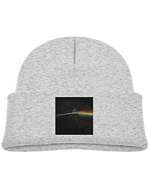 Kids Knitted Beanies Hat Prism Winter Hat Knitted Skull Cap for Boys Girls Black