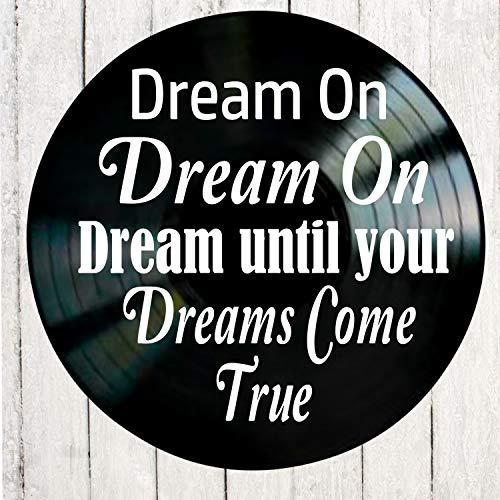 All Aerosmith Albums - Dream On song lyric art/inspired by Aerosmith/Vinyl Record Album Wall Decor