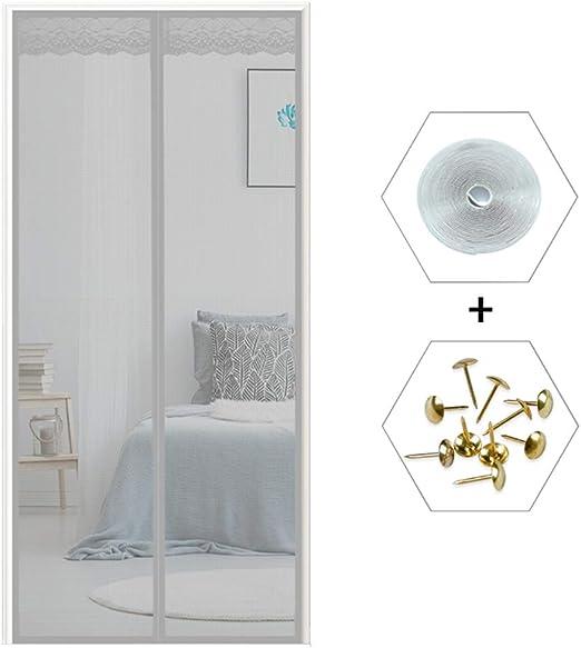 COAOC Cortina Mosquitera Magnetica, Anti Insectos Moscas y Mosquitos Mosquiteras a Medida para Puertas Correderas/Balcones/Terraza - Gris 150x250cm(59x98inch): Amazon.es: Hogar